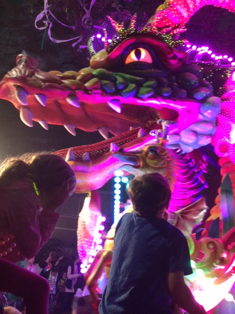 Dragon Float at night