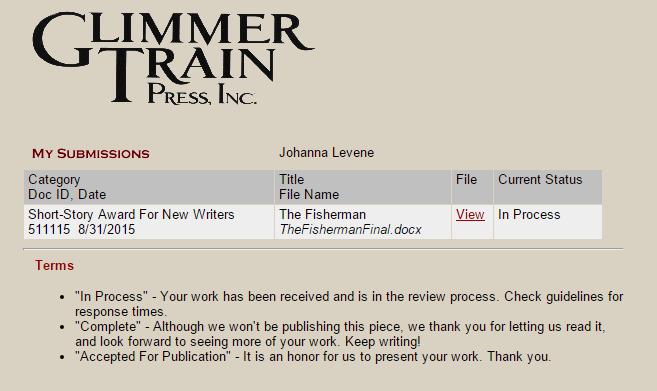 Glimmer Train Submission