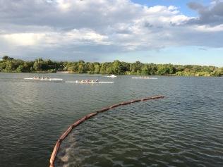 Rowers far away