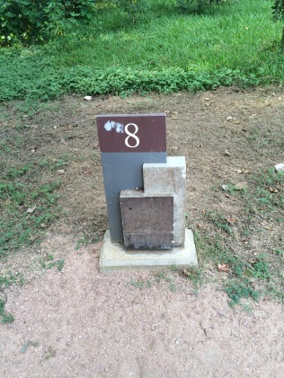 The only mile marker I saw. I was 8 miles from somewhere!